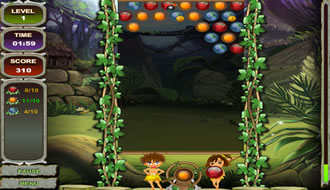 jungle bubble shooter games